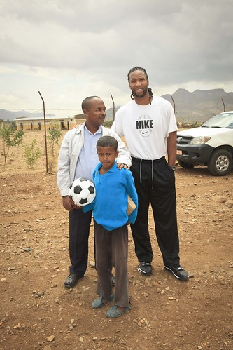 Mandefro and Larry Fitzgerald | by Oxfam America