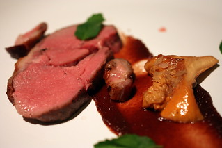 lamb fig purée lamb belly mint chanterelle | by Kung Food Panda