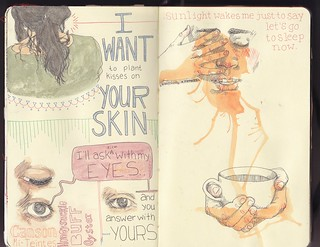 Moleskine 5 pages 16-17 | by PattyDrawsDandelions