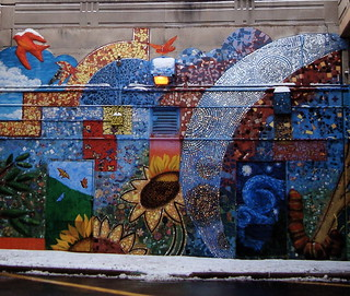 Fantastic Mosaic Wall on the Bryn Mawr Underpass | by Rozanne