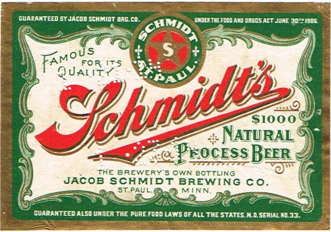 Schmidts--1000-Natural-Process-Beer-Labels-Jacob-Schmidt-Brewing-Co--Pre-Prohibition