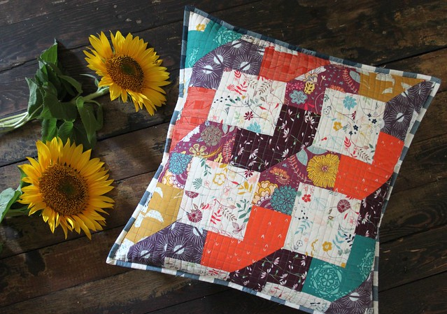 A Fall Pillow from Scraps