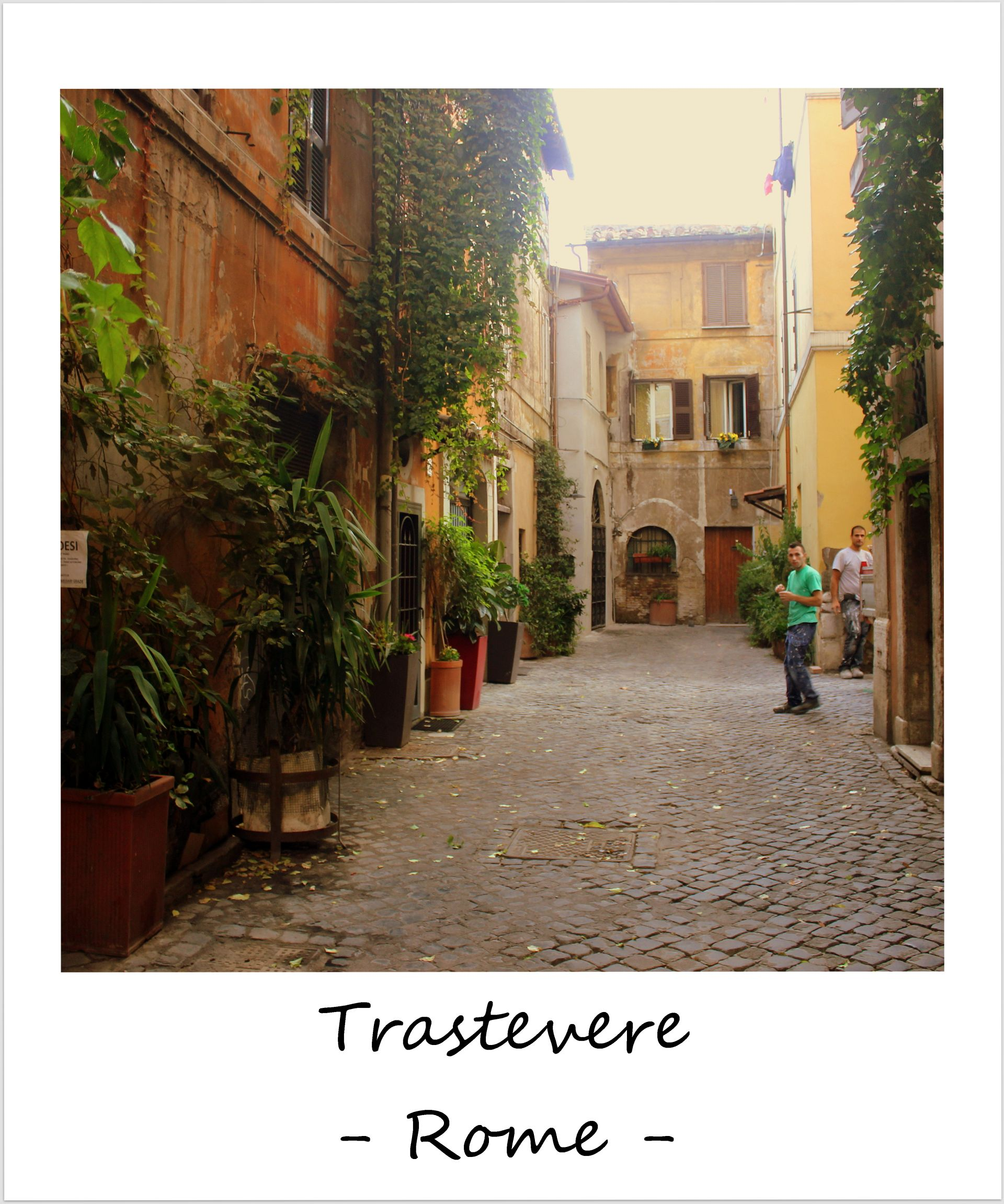 polaroid of the week italy rome trastevere