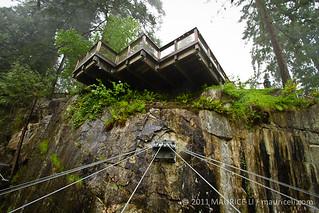 capilano suspension bridge cliffwalk   a series of