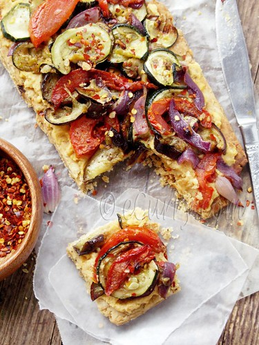 Grilled-Vegetable-Hummus-Tart-4-465x620 | by Soma.R