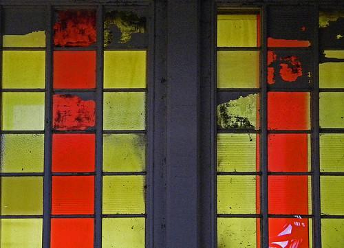 windows in the llama barn at the PNE