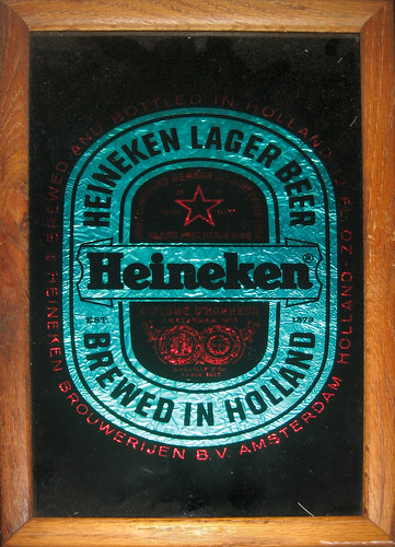 20120526 - yard sale booty - 1 - Heineken Mirror close-up - IMG_4266 | by Rev. Xanatos Satanicos Bombasticos (ClintJCL)