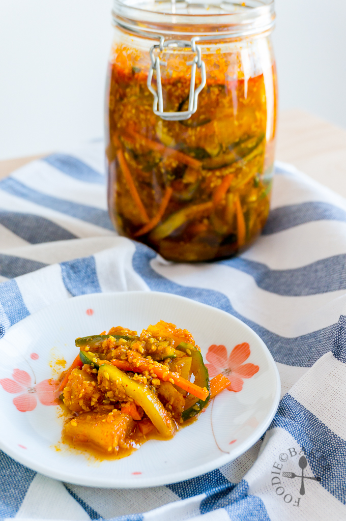Simplified Nonya Achar [Spicy Pickled Mixed Vegetables]