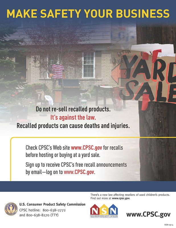 Yard Sales: Make Safety Your Business