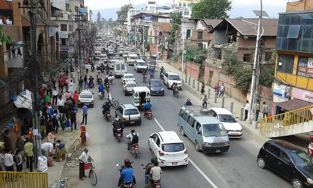photo of Kathmandu traffic