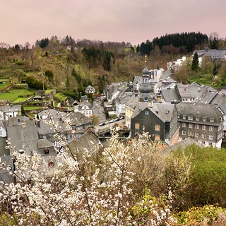 View over the historical old town Monschau | by B℮n