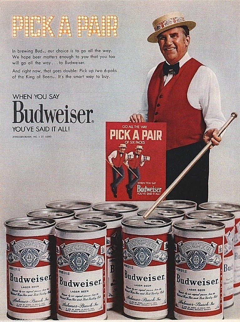 1971-Ed-McMahon-Budweiser-Busch-Beer-cans-pick