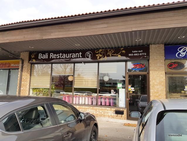 Bali Restaurant storefront