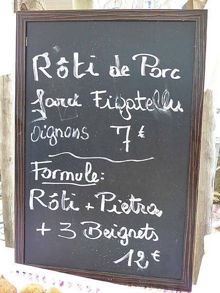 rôti de porc et figatellu