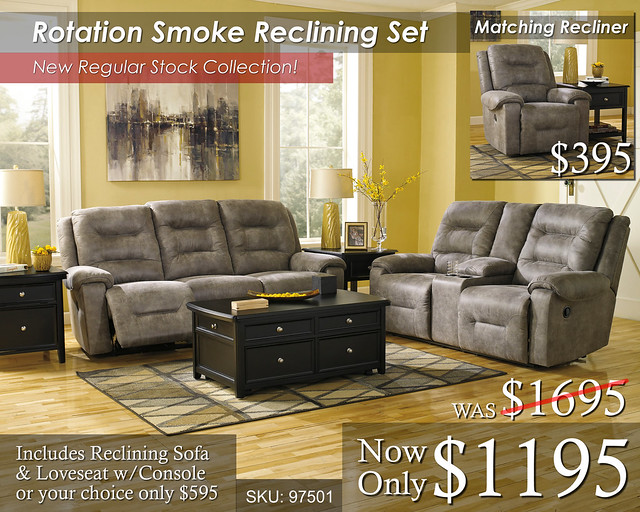 Rotation Smoke Reclining Set NewREGStock