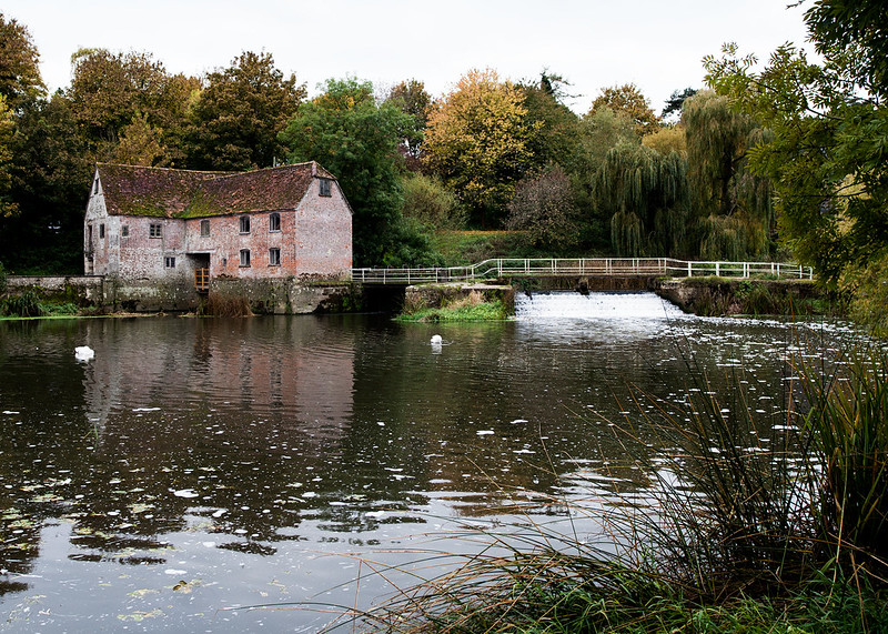 Sturminster Mill and bridge over the river