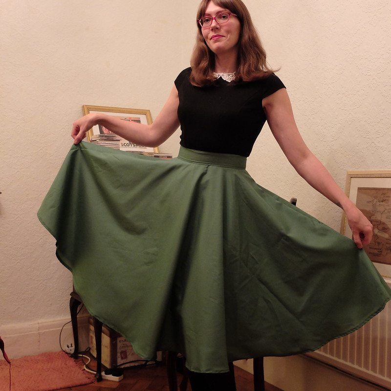 homemade circle skirt