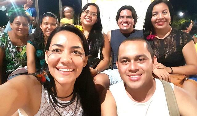 Estudantes indígenas da etnia tapuia, no encontro nacional em Santarém