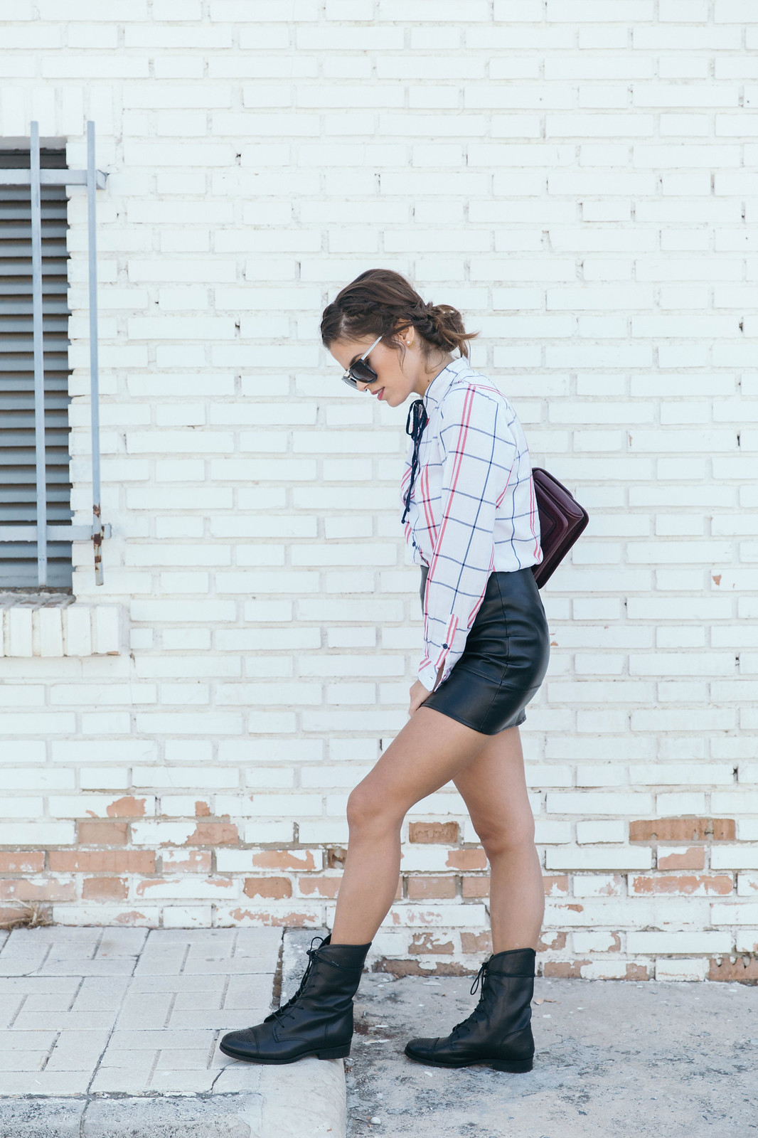 Jessie Chanes Seams for a desire - Black Boots Itshoes Parfois bag faux leather skirt-11