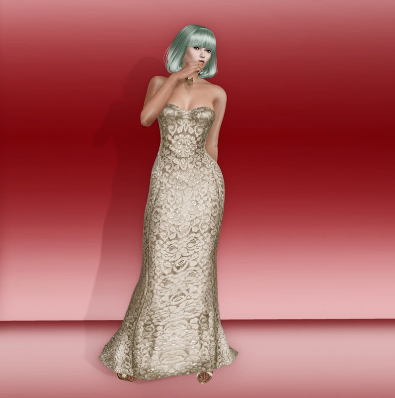 Sn@tch Mari Lace gown and Tatum hair 1