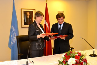 Signing of Memorandum of Understanding for new regional centre, with Turkish Minister for Foreign Affairs | by United Nations Development Programme