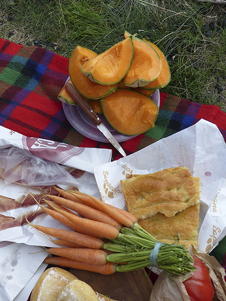carottes et melon