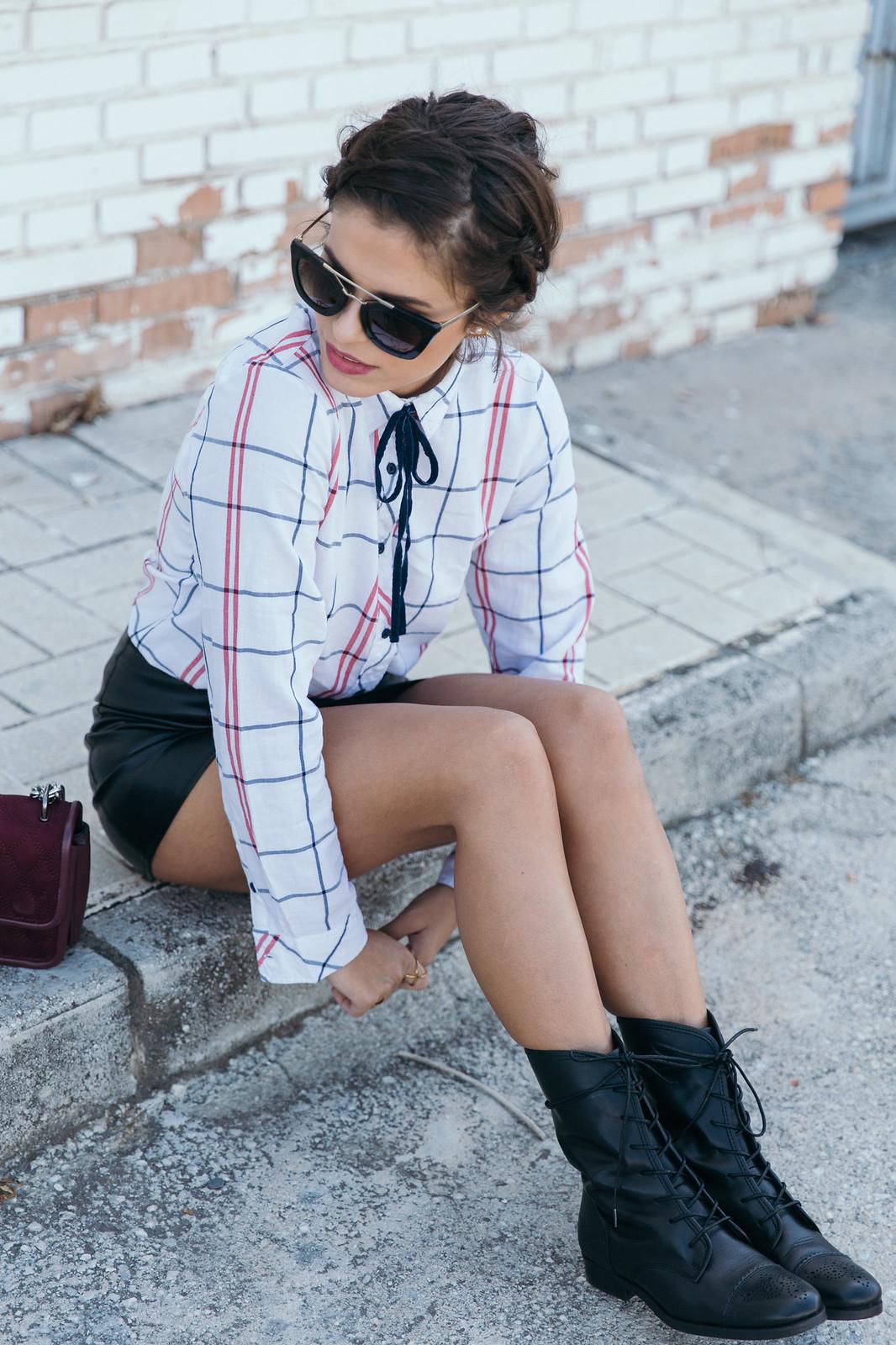 Jessie Chanes Seams for a desire - Black Boots Itshoes Parfois bag faux leather skirt-15