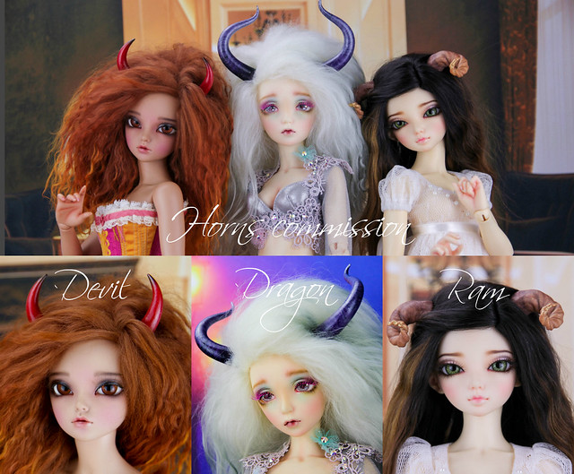 Horns commissions collage