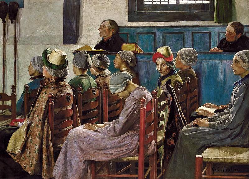 Gari Melchers - The Sermon (1886)