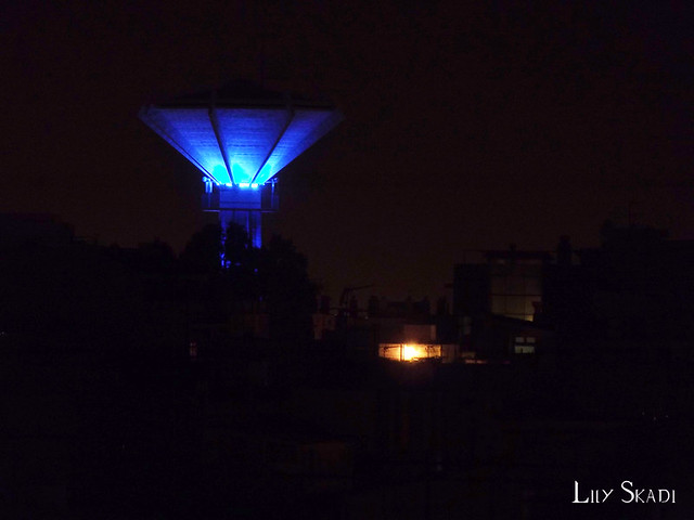 Torre del agua azul