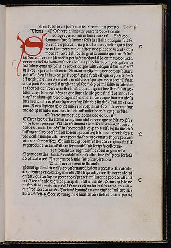 Wann, Paulus: Sermones de preservatione hominis a peccato - Rubricated initial