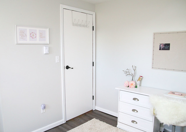 Tween Bedroom Makeover Desk and Door