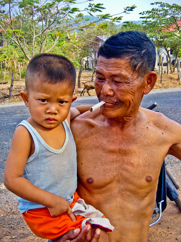 Little boy and his grandfather - Savanakhet - Lao PDR | by jerome92