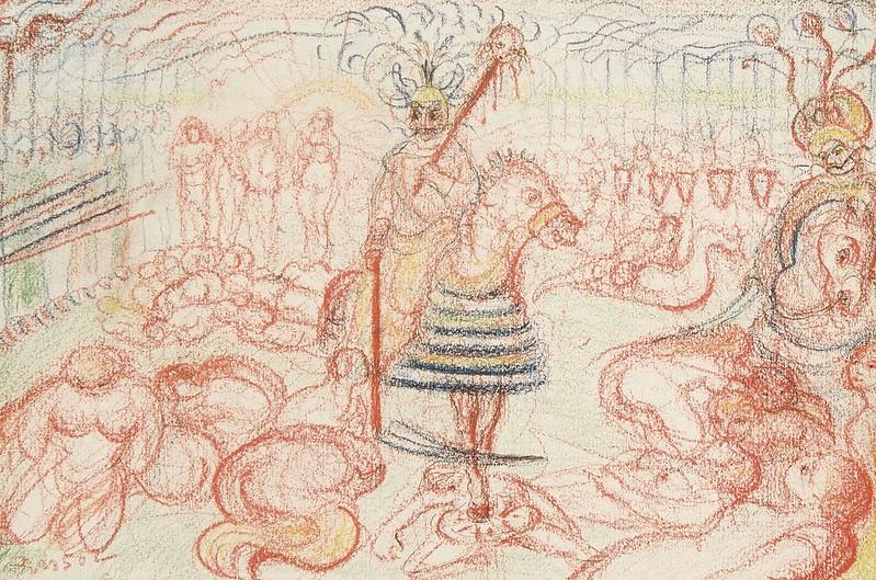 James Ensor - Carnival Scene, 1913