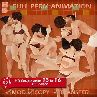 [HD]Full perm couple anim 13-16 フルパーカップルアニメ