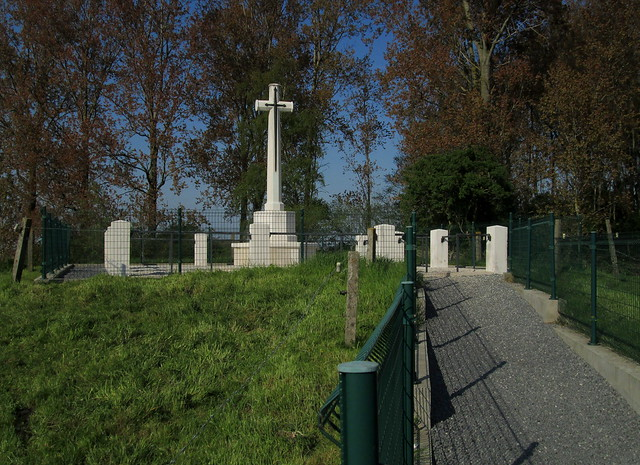 Royal Engineers Grave, Railway Wood, Ypres, From Entrance