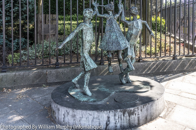 Streets Of Dublin - Millennium Child Located Across The Street From Christ Church Cathedral [ Dublin]
