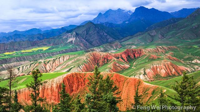 Danxia Landform On Zhuoer Mountain