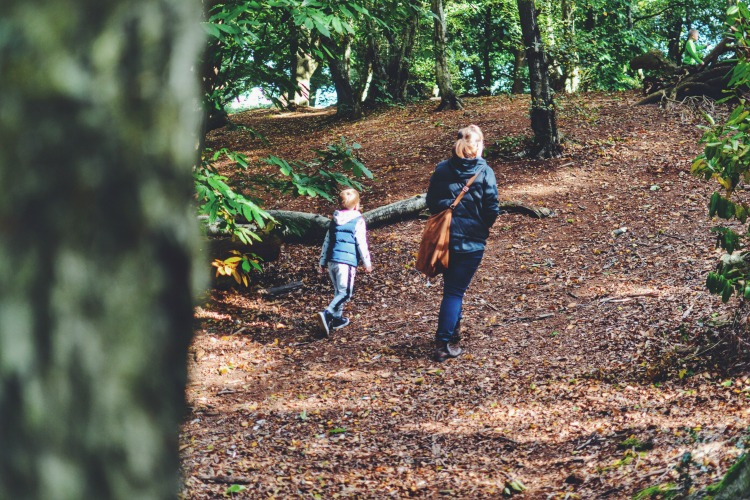autumn walk with mummy