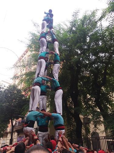 primer 3de8 carregat dels Castellers de la Sagrada Família