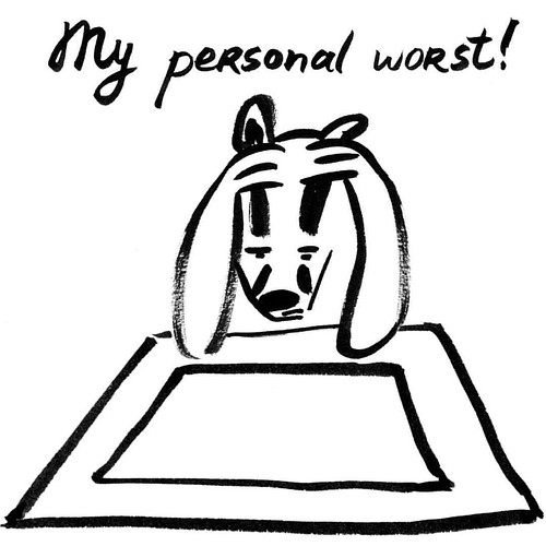 """My personal worst"" - Badger for Inktober Day 28 #inktober2016 #badger #badgerlog #inktober #parenting #personal #worst #personalworst"