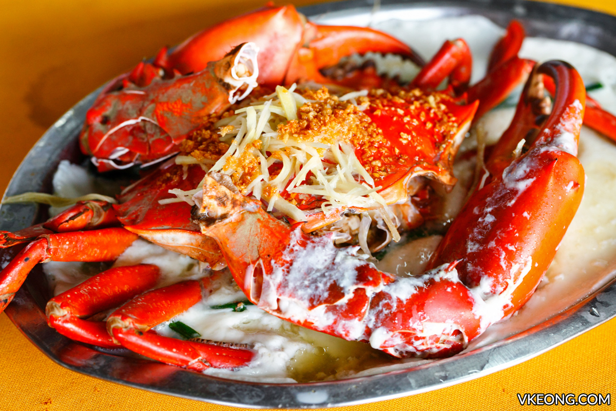 Steamed Crab Pak Thong Kepong food
