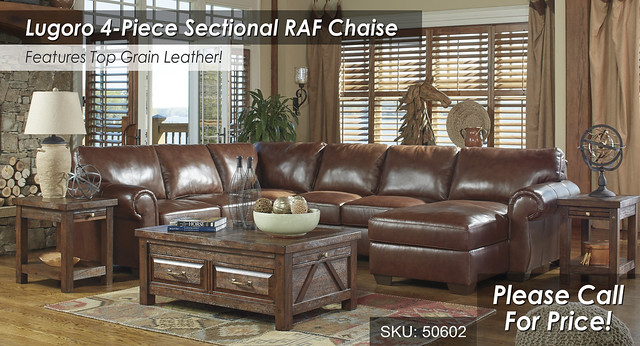 Lugoro Saddle 4PC RAF Sectional 50602-55-77-34-17-T862
