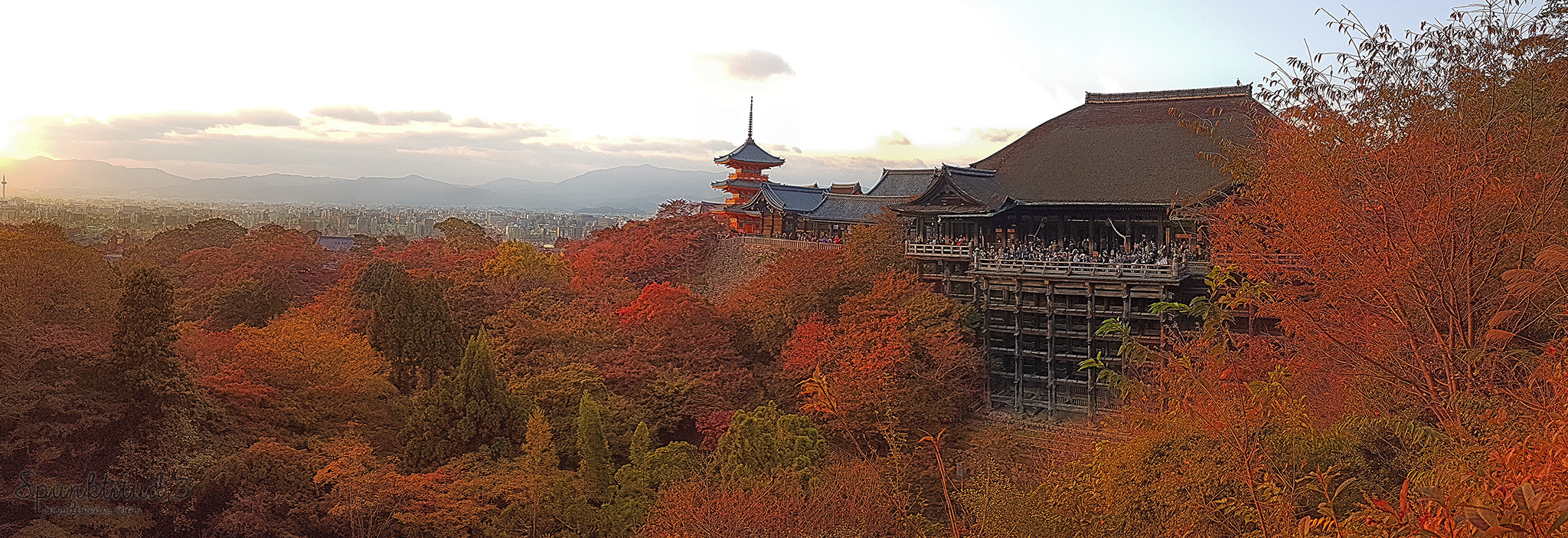 Autumn Sunset at Kiyomizu-dera