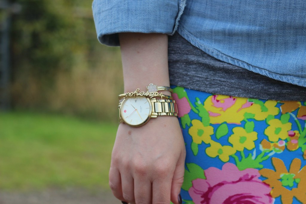 Floral Leggings and Chambray 3