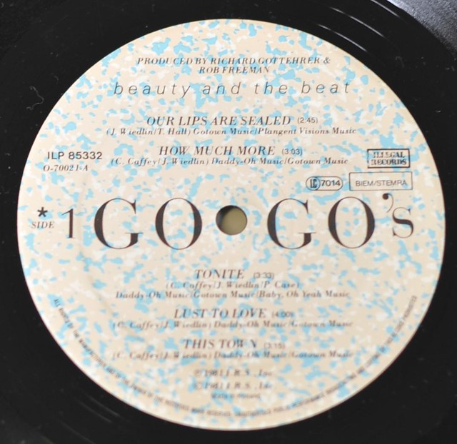 "GO-GO's - Beauty and the Beat 12"" LP VINYL"