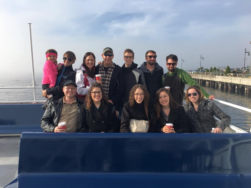 Family photo on the boat tour
