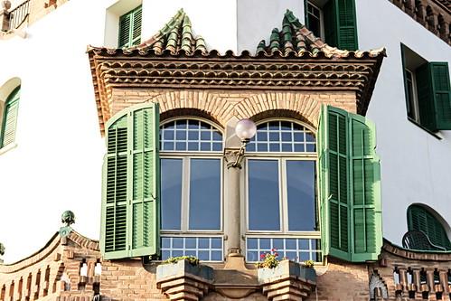 Barcelona - Park Güell - Antoni Gaudí architecture - window
