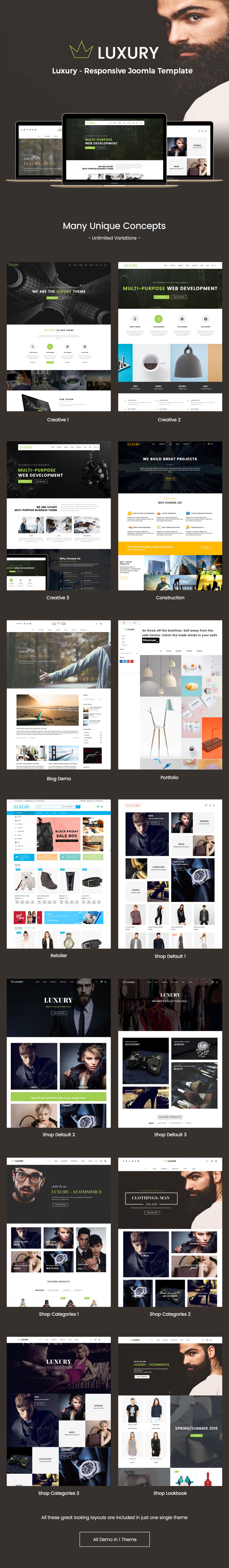 Luxury - Fashion Virtuemart Joomla theme
