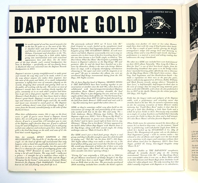 Sharon Jones Daptone Gold LP